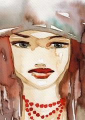 jesienny portret młodej dziewczyny