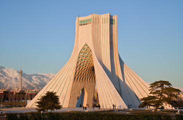 Azadi monument and Milad tower