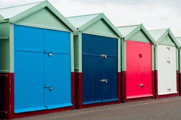 Brighton UK four beach huts
