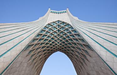 Under Azadi monument in Tehran