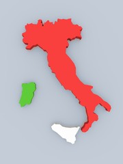 Italy in national colors