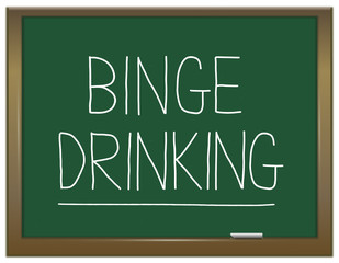 Binge drinking concept.