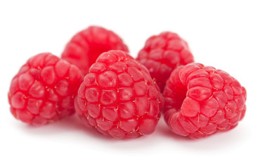Ripe juicy fresh raspberries