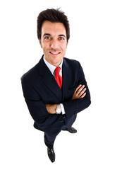 Funny businessman portrait