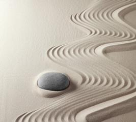 Garden Poster Stones in Sand japanese zen garden
