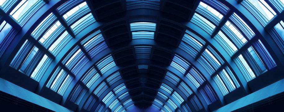 Futuristic hallway corridor