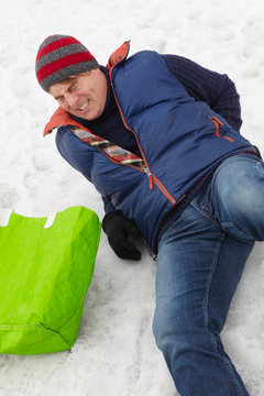 Man Slipped And Injured Back On Icy Street