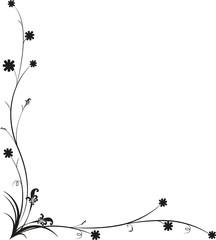 The art work design Vintage Floral Frame, rich ornate, vector.