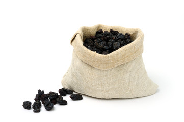 Raisins in a sack