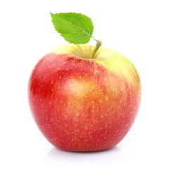Sweet apple with leaf
