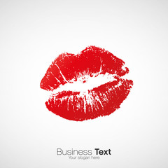 Sexy lipstick kiss vector