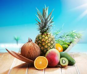 Fresh Fruits on the beach