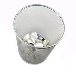 Metal trash bin