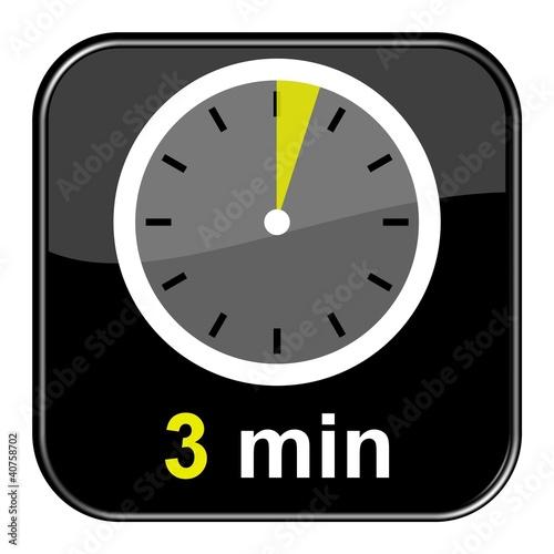 """Uhr: 3 Minuten"""" Stockfotos Und"""