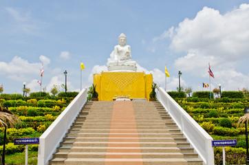 Buddha statue made from white jade