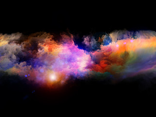 Colorful three dimensional fractal clouds