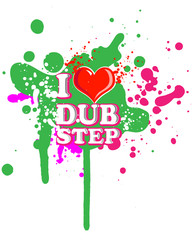 I love dub step vector