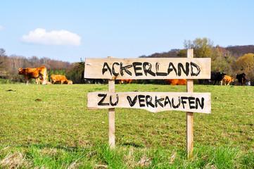 Fototapete - Ackerland zu verkaufen