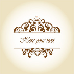 Vintage background where you can write your text