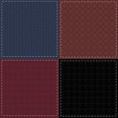four denim and leather backgrounds