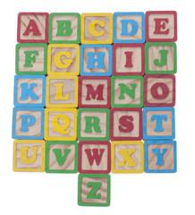 Wooned cubes alphabet