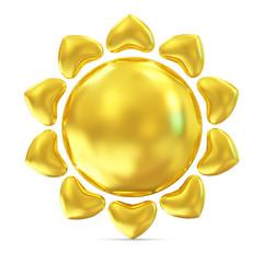 Golden Sun Icon On white background