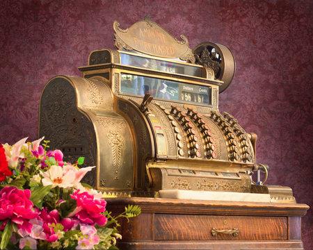 Antique vintage cash register