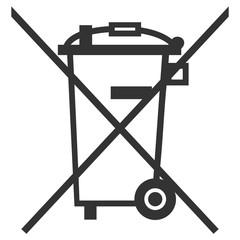 Obraz picto défense de jeter à la poubelle - fototapety do salonu