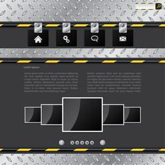 Industrial website template design