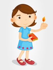 Girl with lighted match