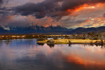 Wall Mural - Torres del Paine National Park, Patagonia, Chile