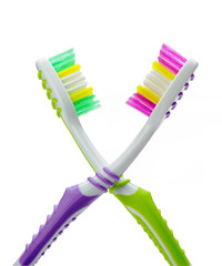 Two color toothbrushes