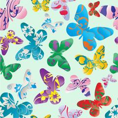 Abstract seamless pattern - butterflies