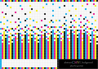vector background with stripes and squares in rainbow colors