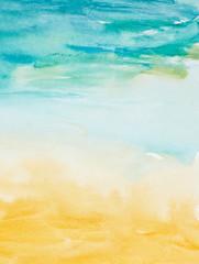 Fototapeta color strokes watercolor painting art obraz