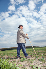 Farmer working in the fields