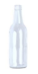 Blaue Flasche leer - isoliert