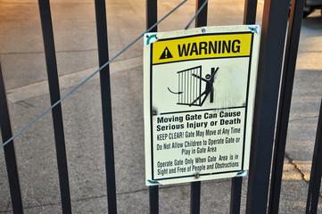 Moving Gate Warning