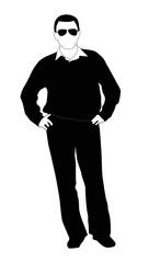 Fashion man vector silhouette