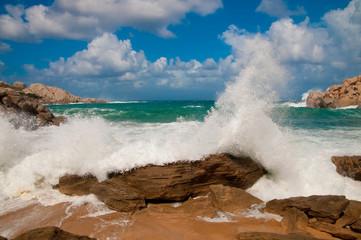 Fototapete - Sturm auf Capo Testa