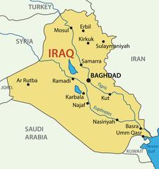 Republic of Iraq - vector map