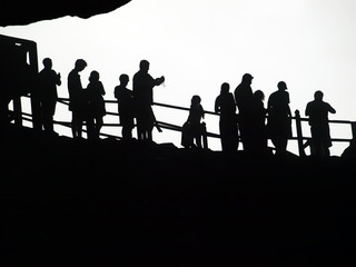 Peoples silhouette