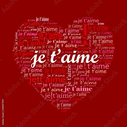 Je t aime amour carte saint valentin passion amoureux - Un coeur amoureux ...