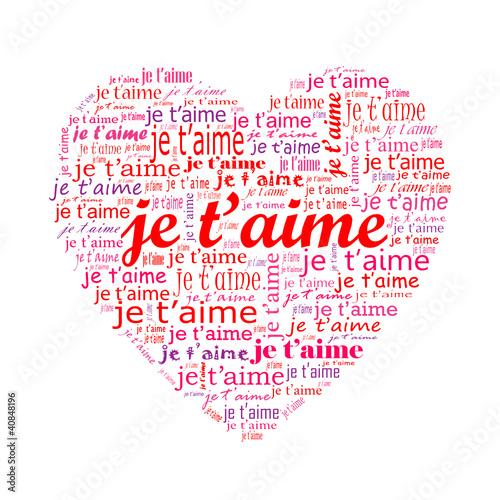 Carte coeur je t aime amour saint valentin passion amoureux stock image and royalty free - Coeur d amoureux ...