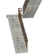 3d render of old staircase