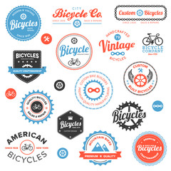 Various bicycle labels and emblems
