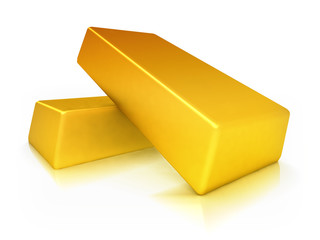 Two gold bricks