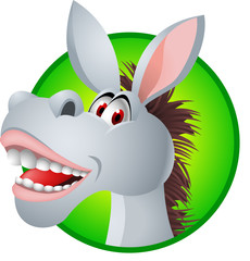 Funny donkey cartoon