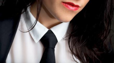 Female Wearing a Tie