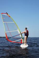 Beginner windsurfer